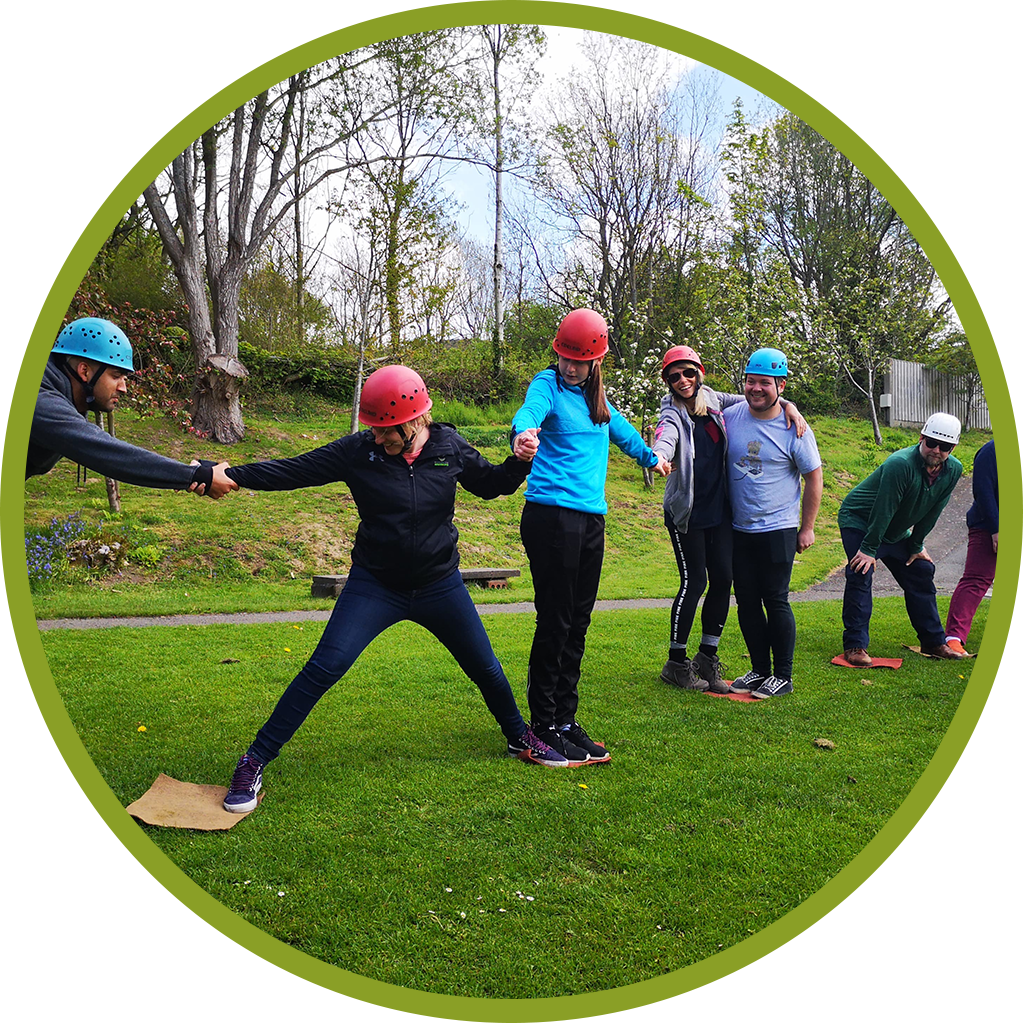 circle cropped image of a group activity